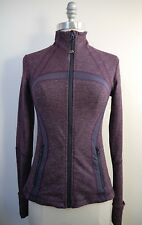 LULULEMON Define Jacket Plum Gray Mini Check Pique size 4 WORN ONCE