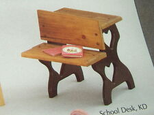 Doll Bear SCHOOL DESK Kit wood with ink well unfinished pine  usa made      61C3