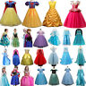 Kids Girls Party Costume Princess Fairytale Dress Up Belle Snow White Anna Elsa