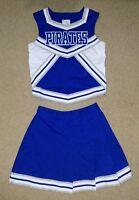 Real Genuine Blue White Silver Pirates Cheerleading Cheer Uniform - READ LISTING