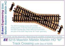 """EE 5215 NEW Maerklin Märklin Marklin HO """"M"""" Track Crossing with 5208 Stubbies"""