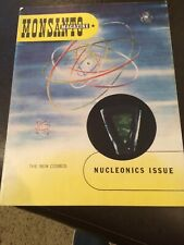 1945 Nucleonics Original Vintage Monsanto Chemicals Plastics Industrial Magazine