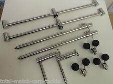 TMC 2 x 3 Rod Buzz Bars, 2x30-50cm sticks, 2 x single arm stabilzers,3 ball rest