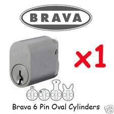 Oval cylinder - 6 PIN - Brava LOCK x1  Lock KEYED ALIKE !!!!
