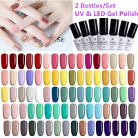 2 Flaschen/Set 5/7.5/10ml Soak off UV Gellack Nail Art Varnish BORN PRETTY