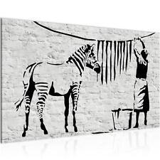 WANDBILDER Washing Zebra – Banksy VLIES LEINWAND BILD - XXL BILDER KUNSTDRUCK 30