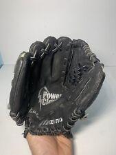 "Mizuno GPP1051 10.5 "" Youth Leather Baseball Glove Blk/ Gray  Right Hand Thrower"