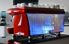 Gaggia Deco 3 Group Professional Italian Espresso Machine with accessories.