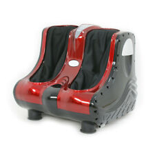 Red Shiatsu Kneading Rolling Vibration Relaxing Foot Calf Ankle Leg Massager