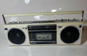 Panasonic RX-F20 Portable Boombox Ghetto Blaster Pearl & Purple Cassette Radio