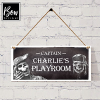 PIRATE PLAYROOM SIGN - PERSONALISED PIRATE BEDROOM DOOR SIGN 210