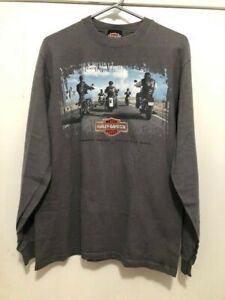 Vintage 1998 Harley Davidson Daytona Beach FL Men's Medium L/S Shirt Dual Side