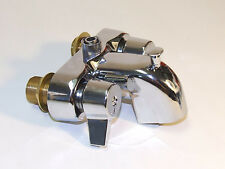 "Heavy Duty Chrome Clawfoot Tub Bath Diverter Faucet with 3 3/8"" Centers"