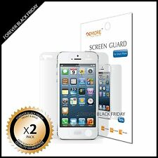 iPhone 5 Screen Protector Anti-Scratch Clear 2x Front Back Guard