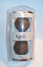"One Pair 1 3/8"" Kirsch Mix & Match Brown Woven Ball Screw-in Finials 73291-999"