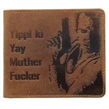 """Mustard Brown Mclane 'Yippi Ki Yay"""" Wallet"""