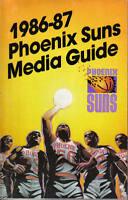 1986-87, Phoenix Suns, basketball,  Media Guide, Alvan Adams, Jeff Hornacek