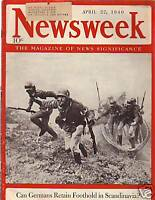 1940 Newsweek April 22-Italy may enter the war; Norway