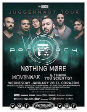 """PERIPHERY/NOTHING MORE """"JUGGERNAUT TOUR"""" 2015 SEATTLE CONCERT POSTER-Metal Music"""