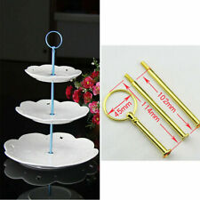 2/3 Tier Cake Cupcake Rod Plate Stand Handle Hardware Fitting Holder Tool