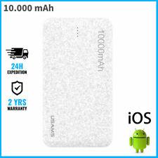 USAMS Mosaic 10.000mAh External Power Bank Chargeur Battery USB Charger Portable