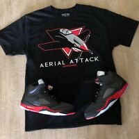 Effectus Clothing Tee to match Air Jordan Retro 5 Satin. Aerial Attack Tee