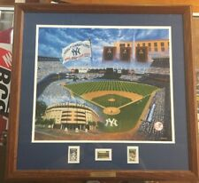Yankee Stadium By David Henderson Babe Ruth Lou Gehrig Stamps with hologram L1