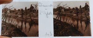 C / Photo Plaque de verre Guerre 14-18 / Dixmude - L'Yser        Flandres