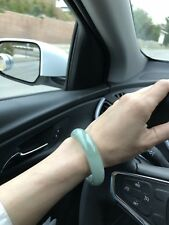 ~57MM Certified Grade A, Icy Almost Glassy Apple Green Jadeite Bangle Bracelet