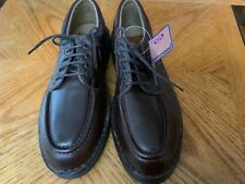FREEMOOD MEN'S BROWN GENUINE LEATHER SHOES SIZE 9 NEW WITH TAG