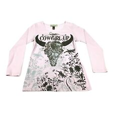 Bit & Bridle Western Top Cowgirl UP Equestrian Rodeo Sequin Womens Large PINK