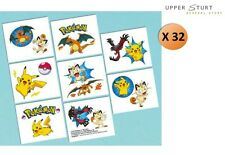 Pokemon Tattoos 2 Sheets 32 Tattoos 16 Perforations Party Favours Party Supplies