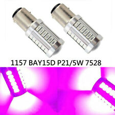 Front Turn Signal 1157 2057 3496 7528 P21/5W 33 SMD LED Bulb Purple K1 HA