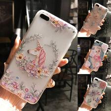3D Cute Unicorn Flamingo Soft Silicone Phone Case Cover Back For iphone 6 7 plus