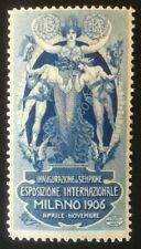 Erinnofilia Chiudilettera Italia Regno 1906 - Inaugurazione del Sempione - MH*