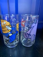 1977 Grimace McDonald's Action Series Collectible Glasses Cups 2 K3