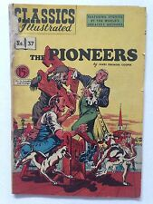 Classics illustrated #37, The Pioneers, Hrn 75, Rare Canadian Variant!