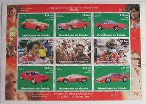 Guinea 1998 - Sheet Cars Ferrari MNH