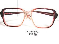 Vtg 1980s World of Frames Eyeglasses Albany Dark Brown Fade Suble Red (Ltm-05)