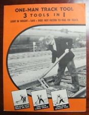 RARE VINTAGE RAILROAD 3 TOOLS IN 1 TRACK TOOL by CARTIER SUPPLY CO BROCHURE