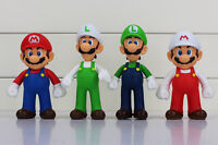 "Super Mario Fire Mario Luigi Fire Luigi 5"" Action Figures Birthday Cake Toppers"