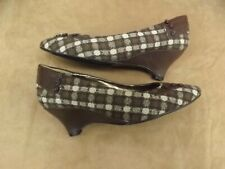 Vtg New NOS D. Myers JJ Girl Brown Show Time Wedge Cone Heel Slip On Shoes 8.5W