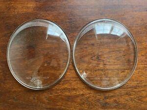 Porsche 356 911 912 HELLA SB19 SB20 SB21 Headlight Lens Pair US DOT Clear Glass