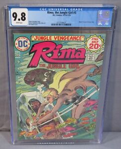 RIMA, THE JUNGLE GIRL #5 (Joe Kubert cover) CGC 9.8 NM/MT Wht Pgs DC Comics 1974