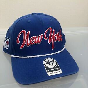 New York Rangers 47 Brand Hat. New NWT Blue Snapback Cap. - Rope - NHL Hockey