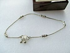 """1/2"""" Ball Anklet Silver Tone 10"""