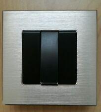 I LumoS Luxury Silver Brushed Aluminium Wall light switch -3 Gang 2 Way Rocker
