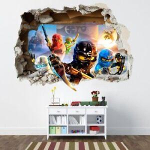 130cm WANDAUFKLEBER Loch 3D LEGO NINJAGO Wand Aufkleber Wandtattoo 109