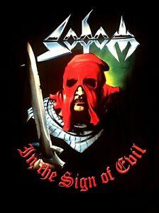 SODOM cd cvr IN THE SIGN OF EVIL / GROUP PHOTO 1984 Official SHIRT LRG new