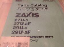 Hitachi zaxis 27-u parts books